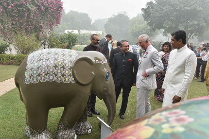 (L-R) Ratnaraj, Mr. Nirav Modi, TRH The Prince of Wales