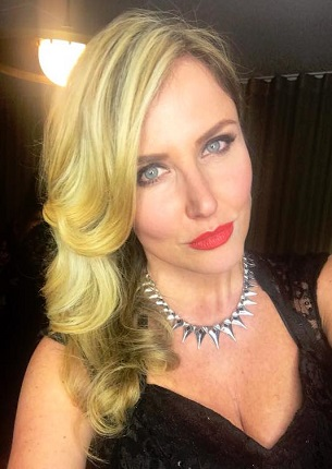 Model Nancy Sorrell and Midnight necklace