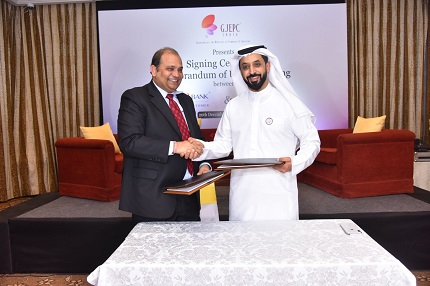 Pramod Kumar Agrawal, Chairman, The Gem and Jewellery Export Promotion Council (GJEPC) and Ahmed Bin Sulayem, Executive Chairman of DMCC, and Chairman of DDE