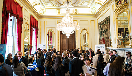 Job seekers meeting with recruiters at the GIA London Jewellery Career Fair on April 5