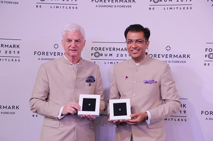 Mr. Stephen Lussier Executive Vice-President, Marketing, De Beers Group and Mr. Sachin Jain, President, Forevermark India