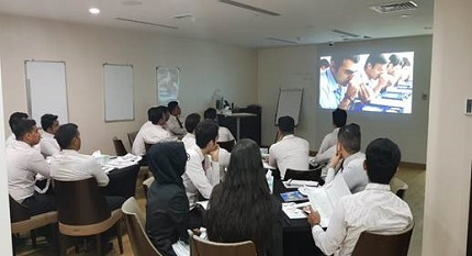 Sales Associates of Malabar Gold and Diamonds during one of the training sessions
