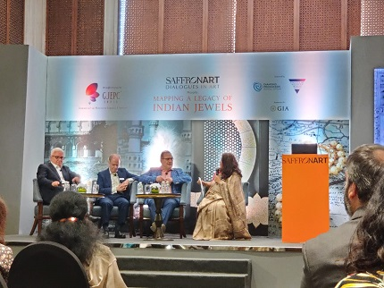 L-R Alex Popov, John King, Jack Ogden along with moderator Nirupa Bhatt as they take questions from the audience