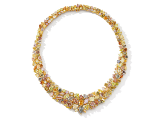 An Important Fancy Coloured Diamond Necklace Estimate: HK$ 2,000,000-3,500,000/ US$ 250,000-450,000